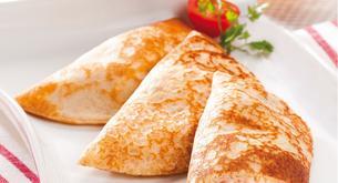 Receta para niños: crepes de jamón y queso