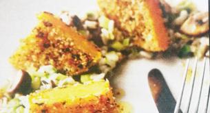 Receta para niños: calabaza empanada con puerros y setas