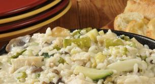 Receta para niños: risotto de verduras con jamón y manzana