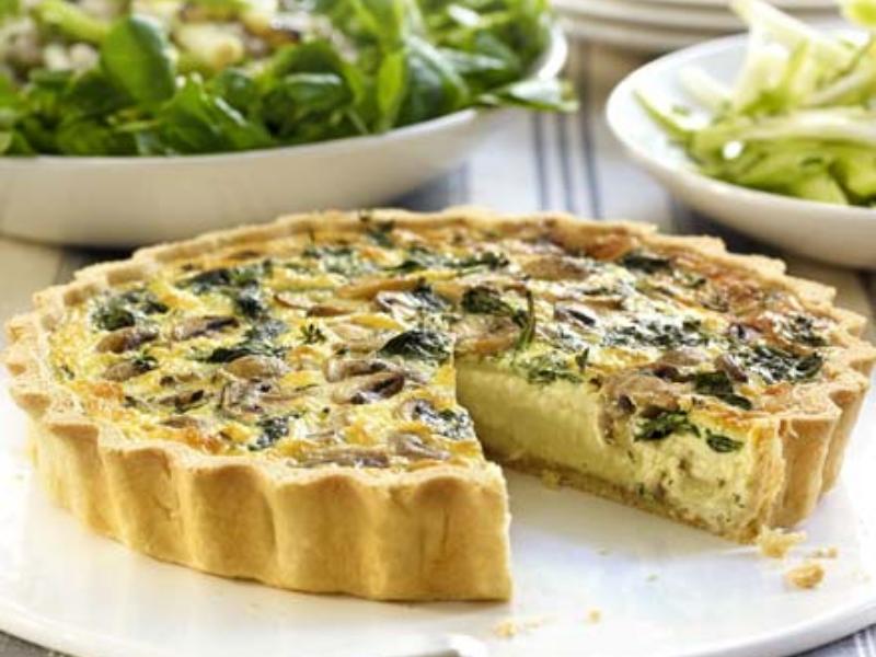 Receta para ni os quiche de espinacas y champi ones for Quiche de verduras facil