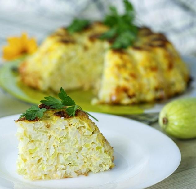Receta para niños: pastel de arroz y calabacín