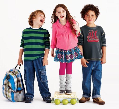 Ropa para niños: ropa adecuada para la escuela y el colegio
