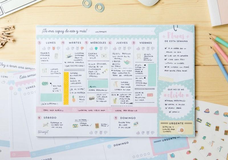 Planificador semanal para madres
