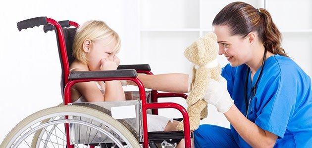 El cuidado de niños con discapacidades físicas