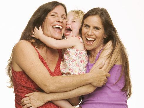El cuidado de los niños en parejas lesbianas