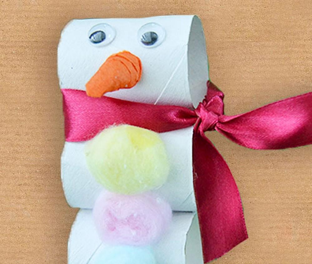 Decoración para niños: muñeco de nieve