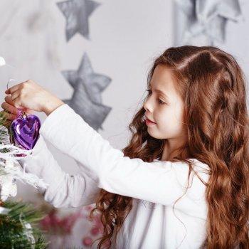 Peinados para niñas en Navidad