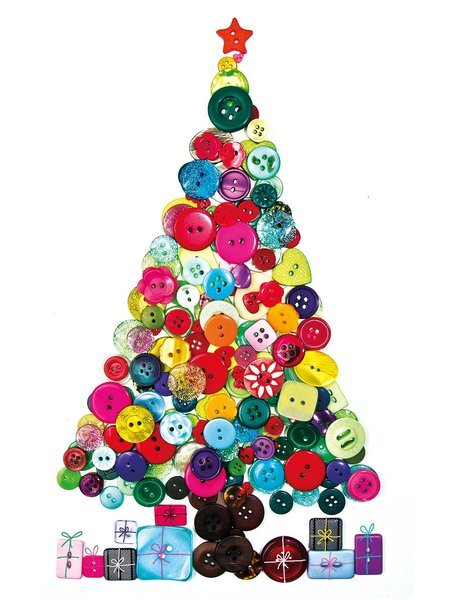 Decoraci n para ni os en navidad rbol de botones solo - Decoracion para arbol de navidad ...