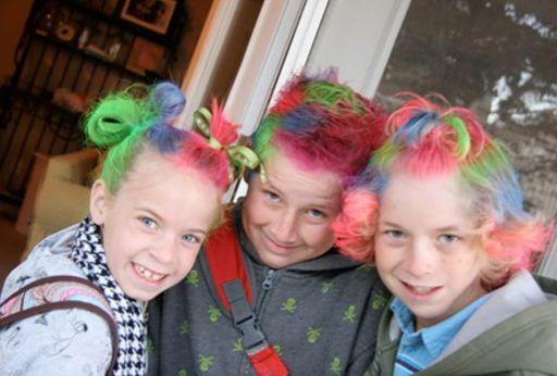 Peinados para niños en carnaval