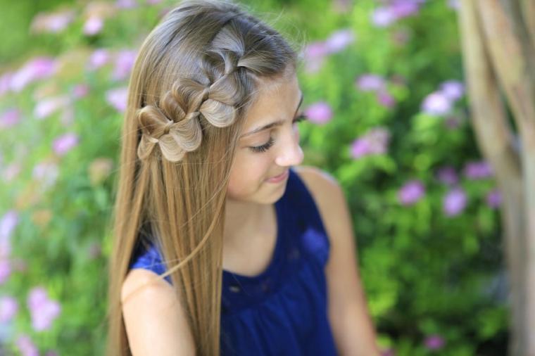 Peinados para niñas: fiestas o eventos
