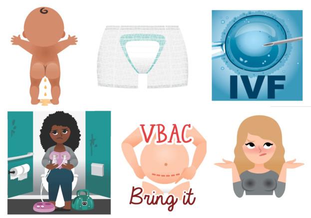 Emoticonos maternidad