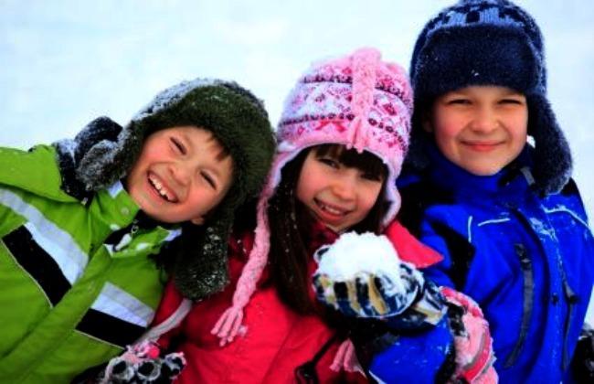 frío con niños