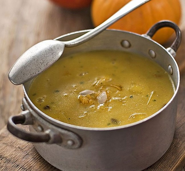 Receta para niños: sopa de semillas de soja y calabaza